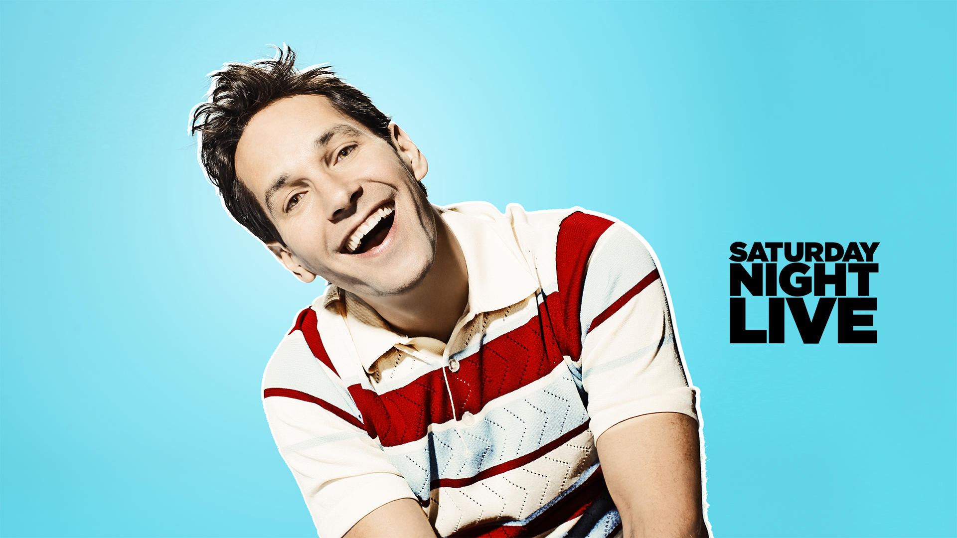 Paul Rudd hosts with musical guest One Direction in Episode 1649 of Saturday Night Live on December 7, 2013.