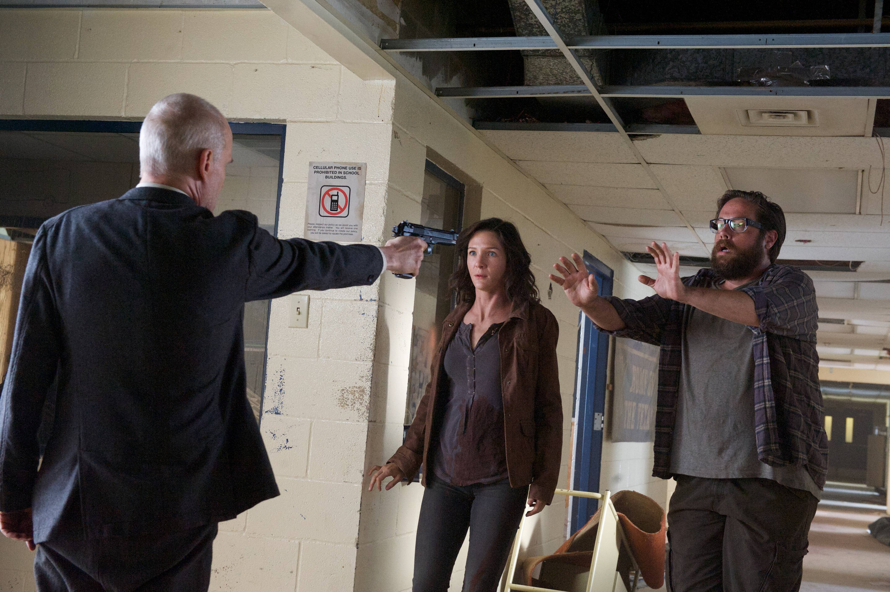 """Revolution - """"Everyone Says I Love You"""" - Dr. Horn with gun on Aaron and Cynthia"""