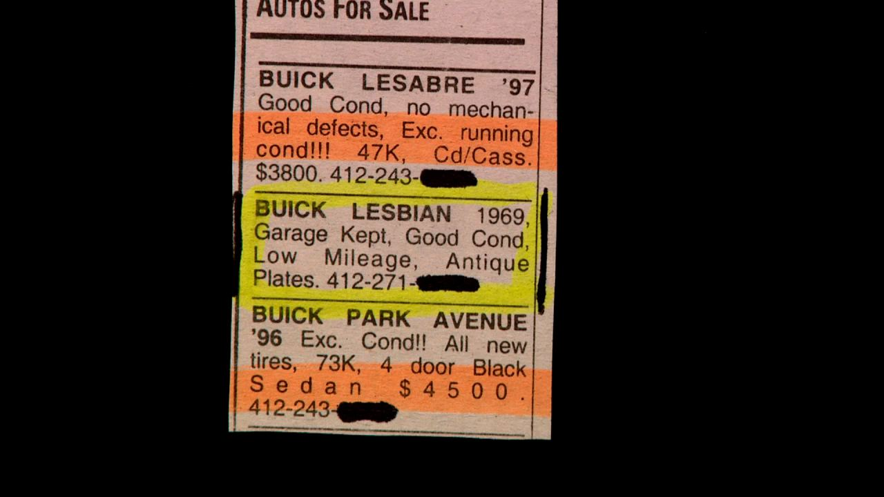 Are you familiar with the Buick Lesbian model?