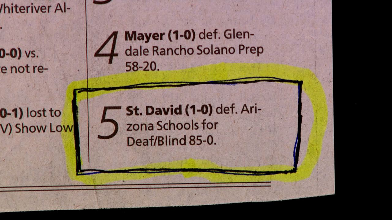 Deaf/Blind 85-0. This seems a little unfair. At least play at night.