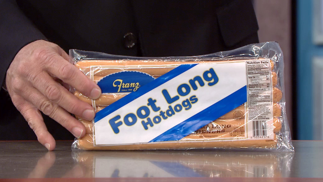 FOOTLONG HOT DOGS