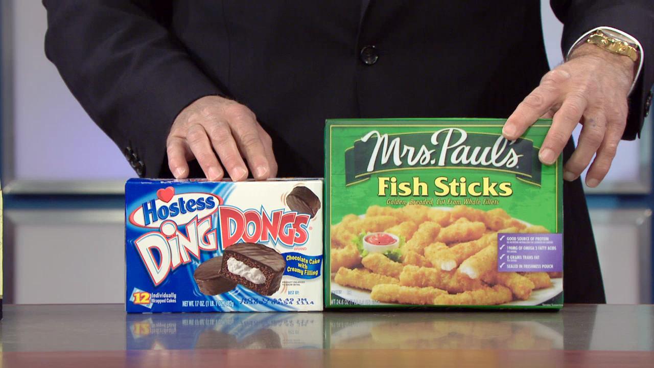 MRS. PAUL'S FISHSTICKS + DINGDONGS