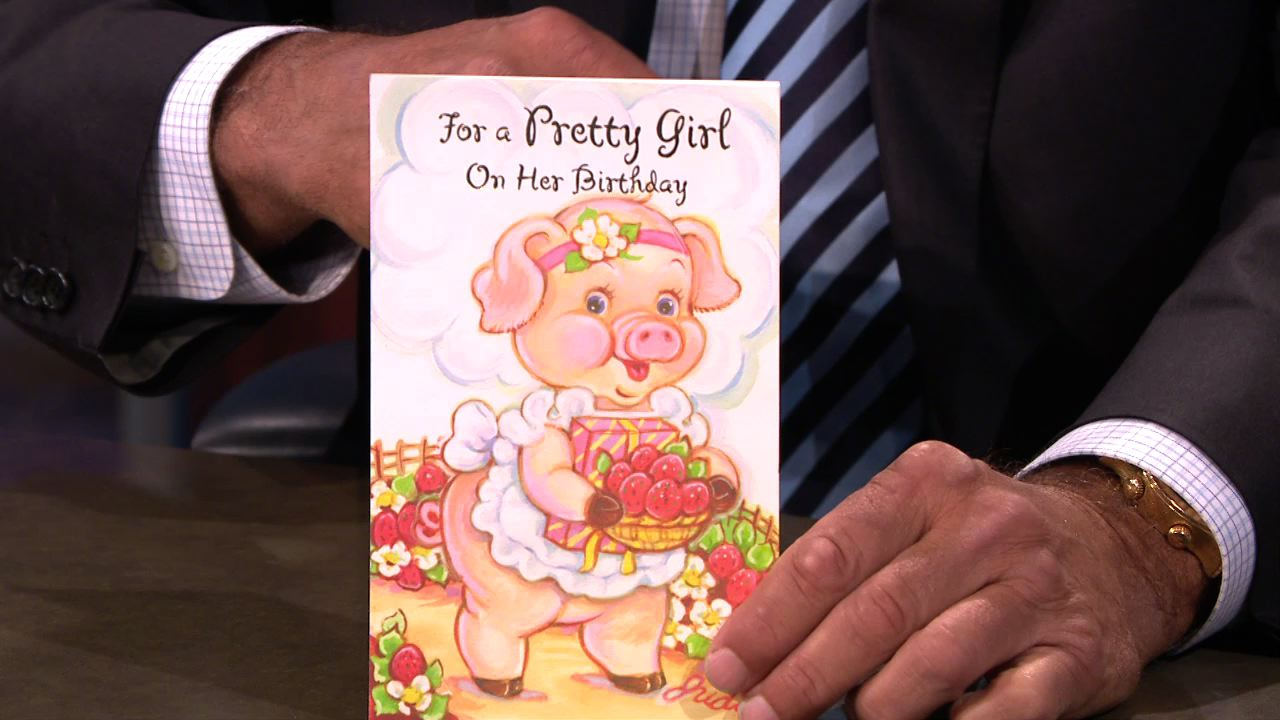 Pretty Girl Birthday Card