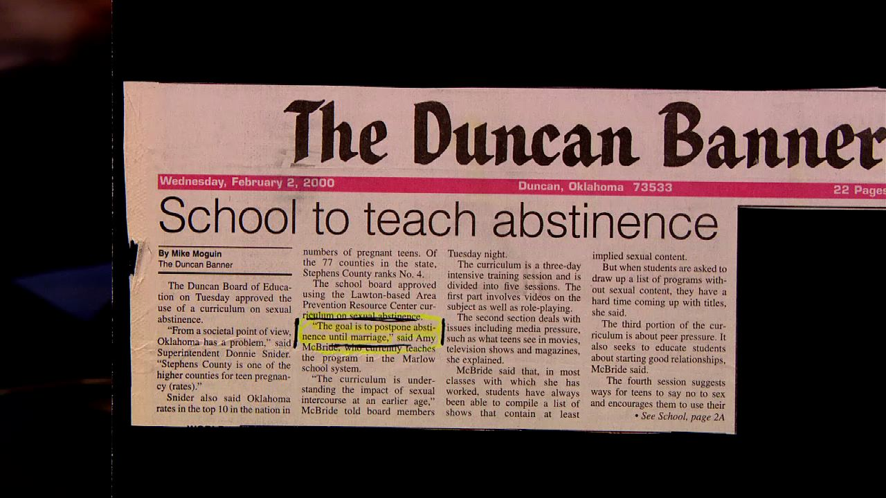 School to teach abstinence.