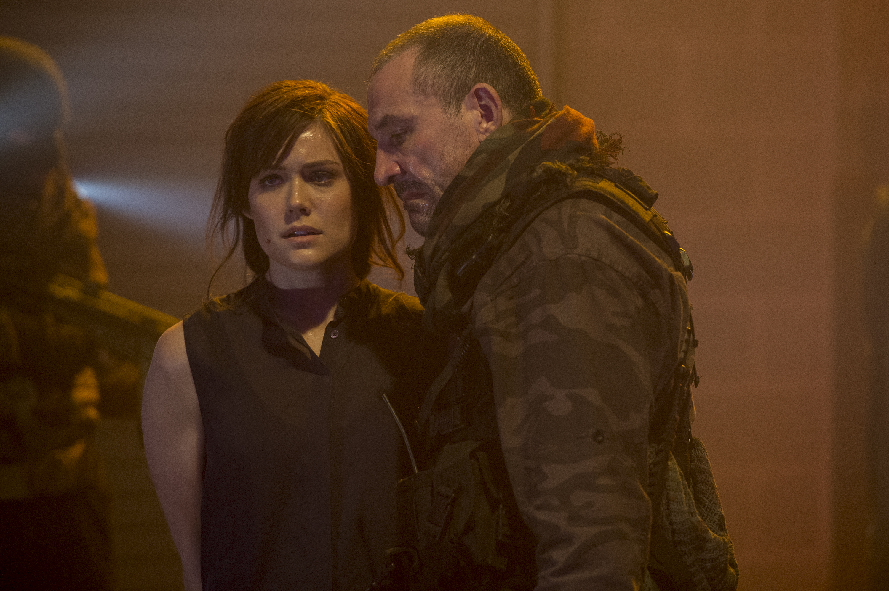 Liz and a mysterious stranger fight to save Red and Ressler.