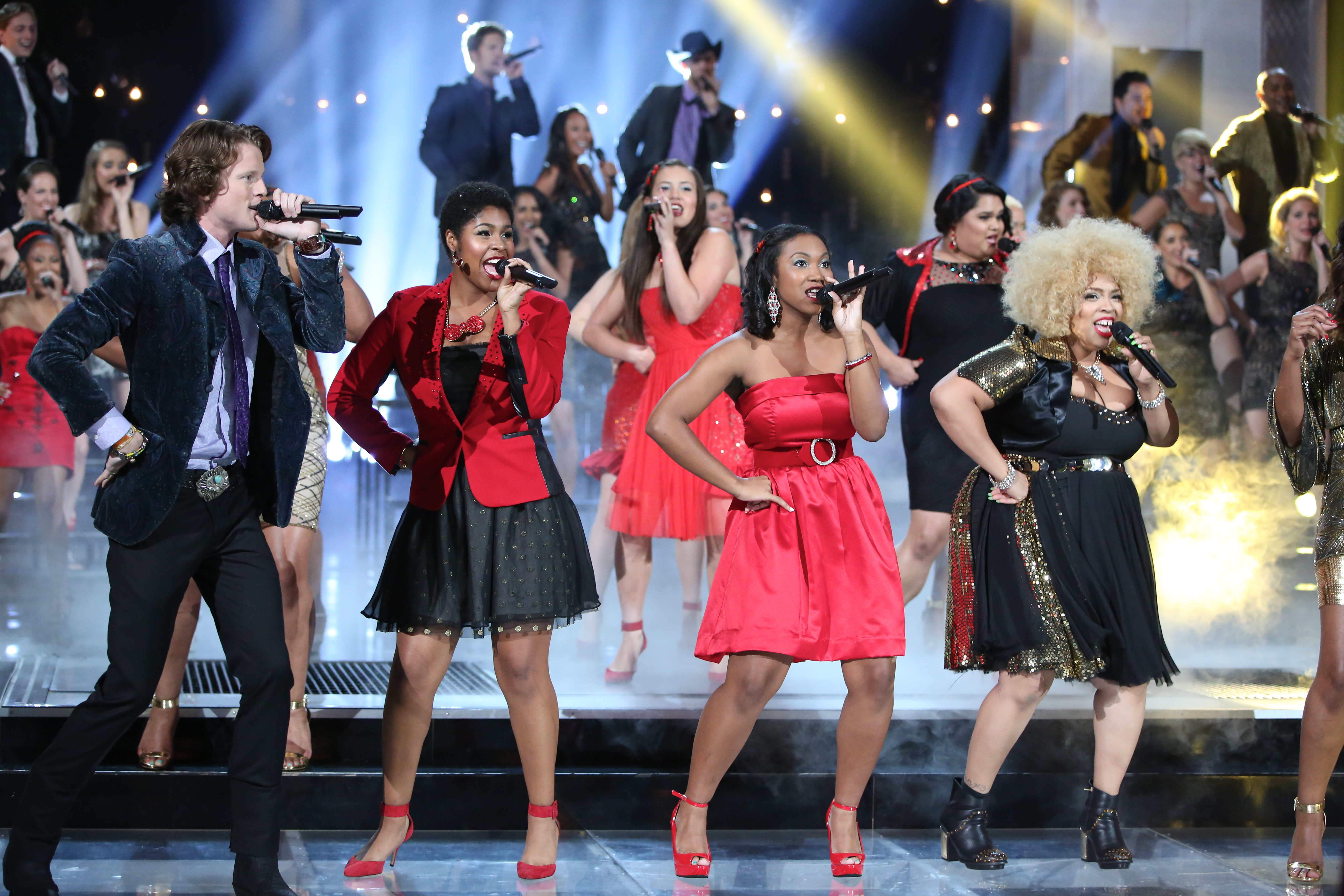 The Sing-Off - Contestants singing opening number of the finale