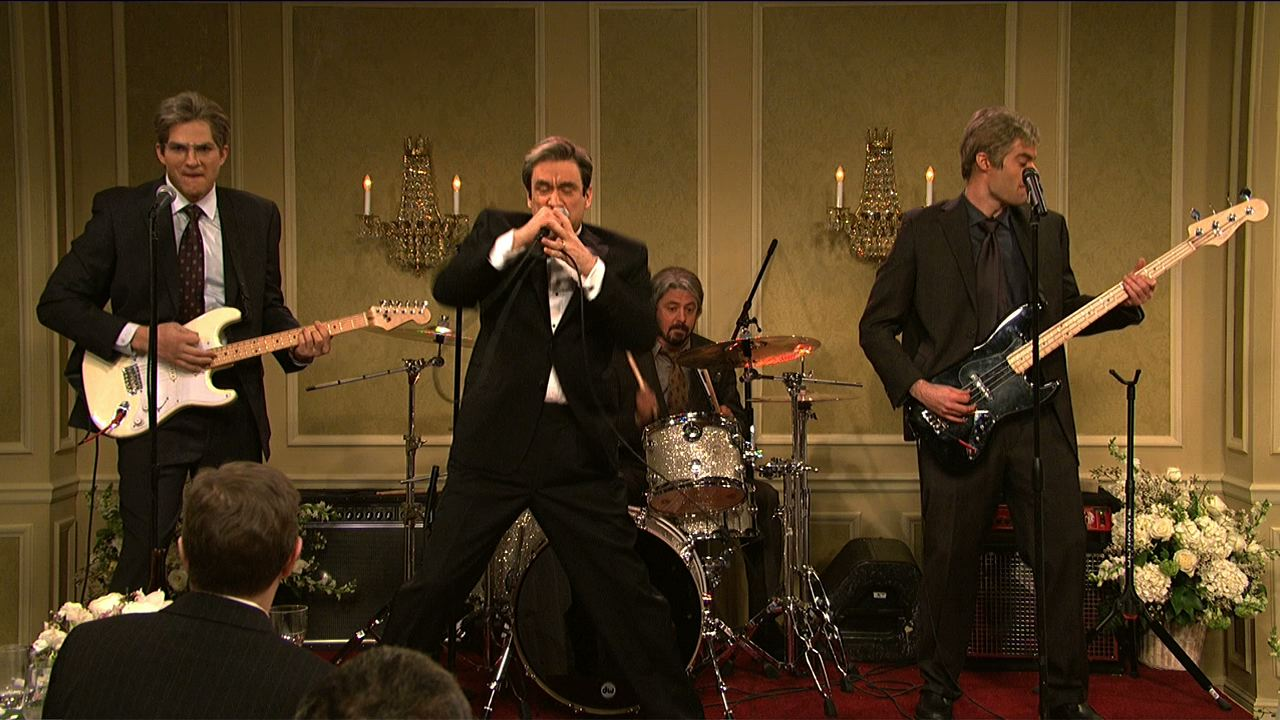 watch saturday night live highlight band reunion at the wedding