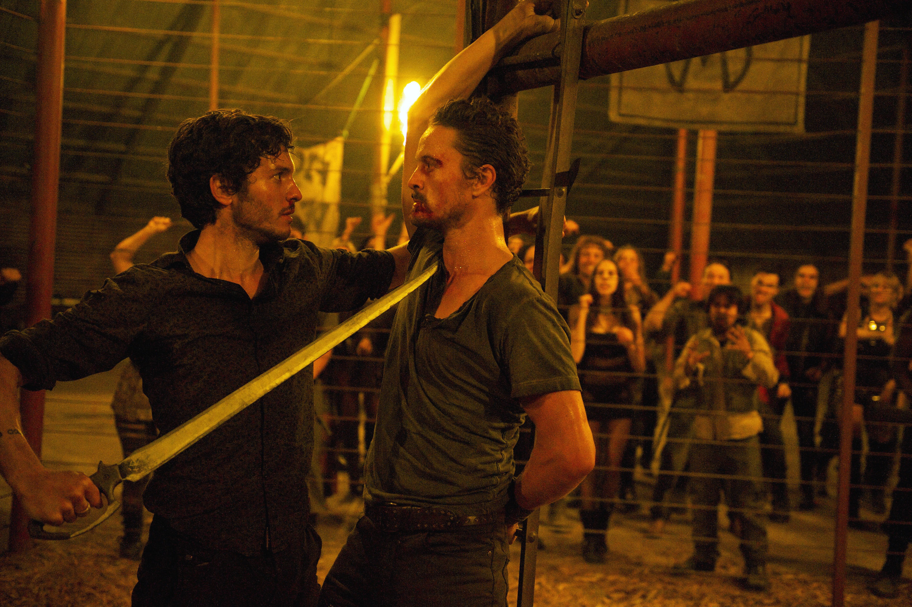Revolution - Connor set to kill Monroe with a sword to the neck