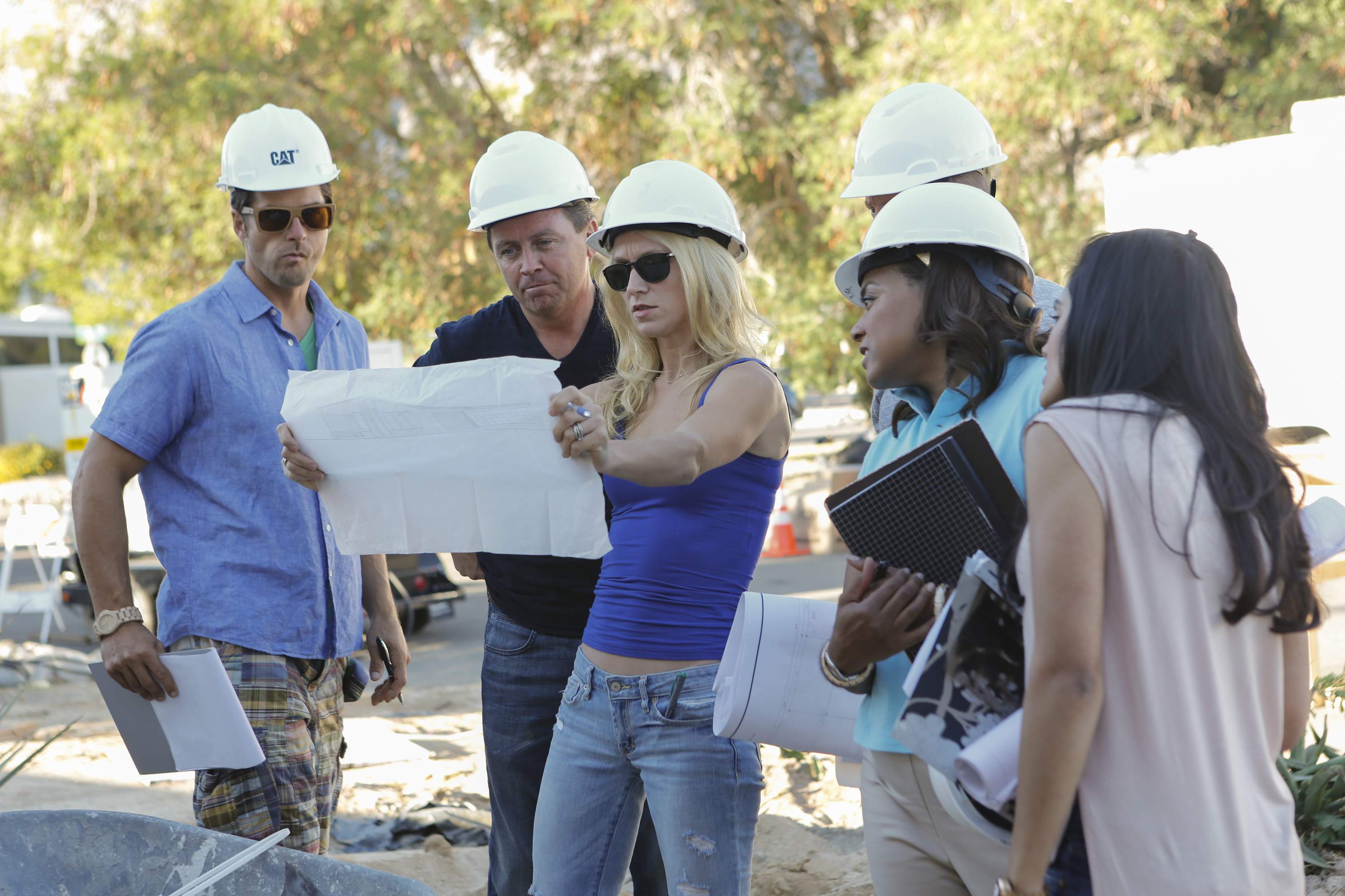 American Dream Builders - The Blue Team reviews the house plan