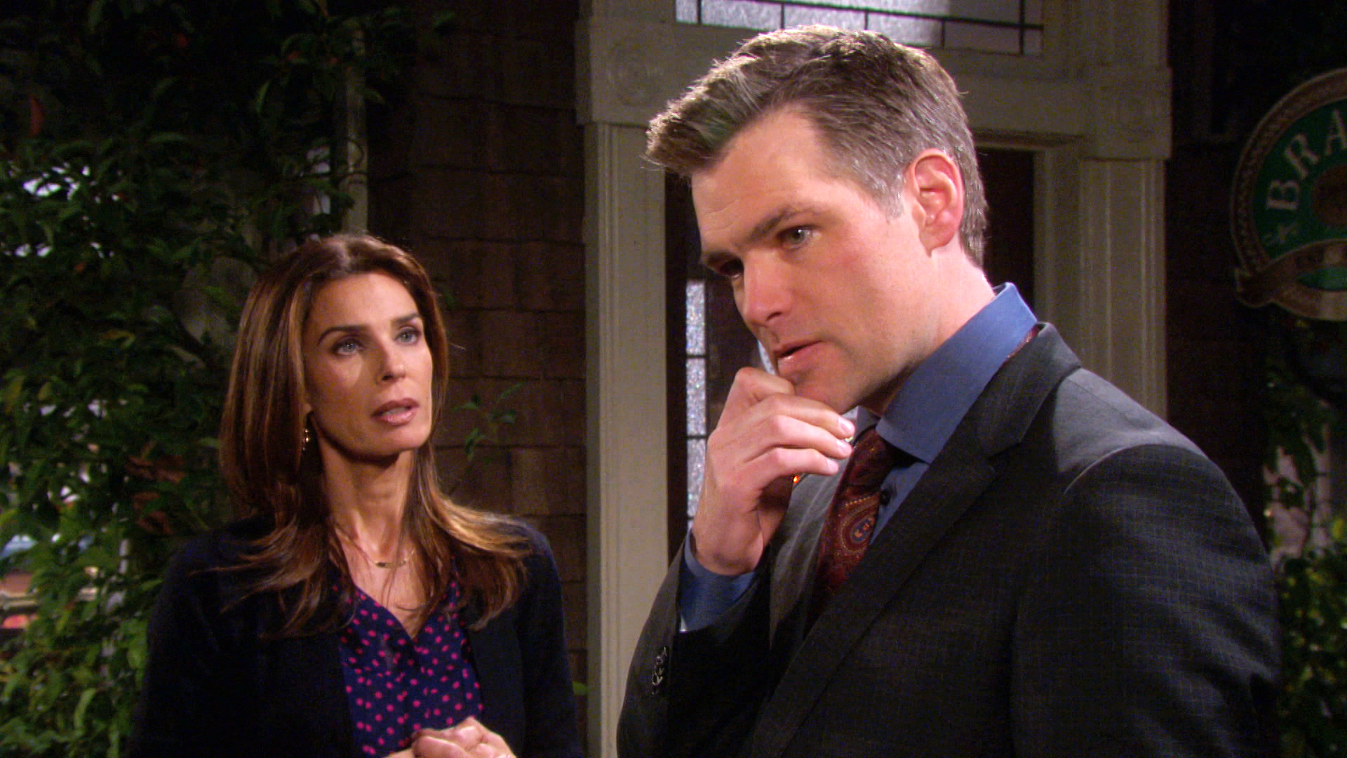 Aiden confronts Hope over what she said about him to Kayla.