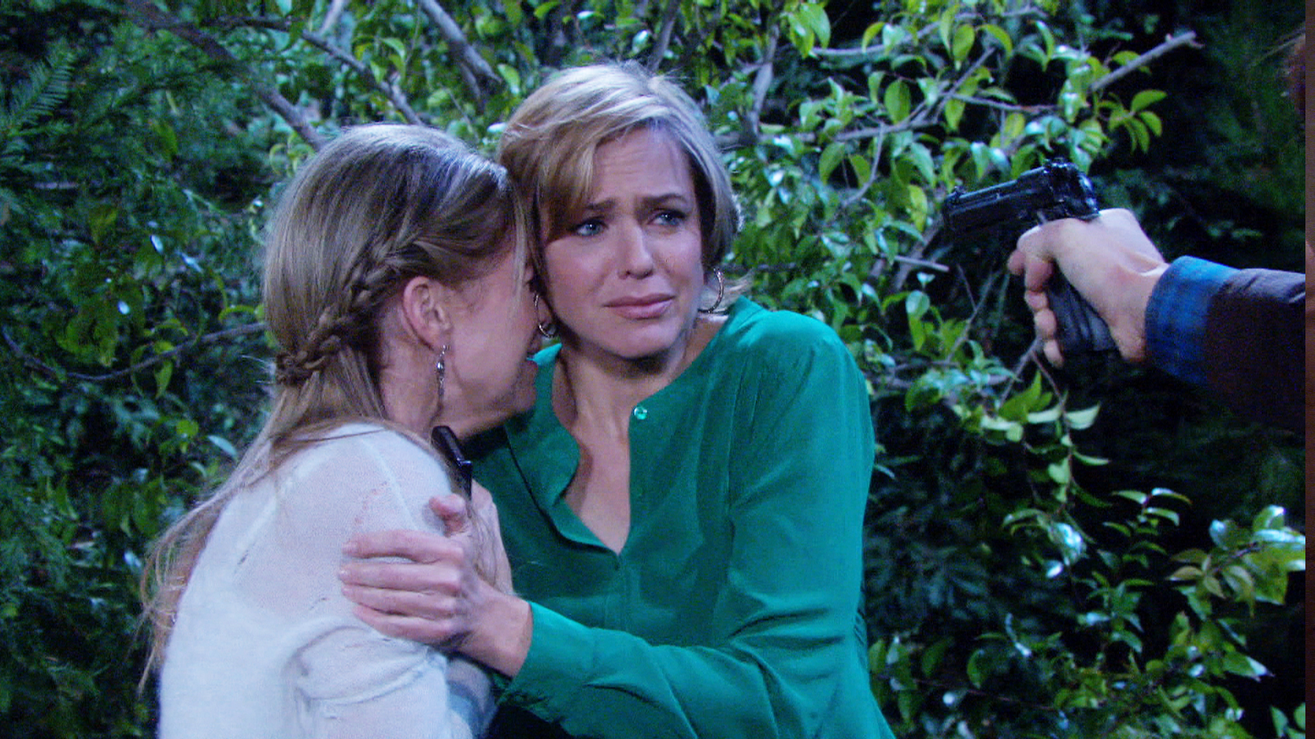 Nicole and Jennifer fight to escape Liam - and someone gets shot!