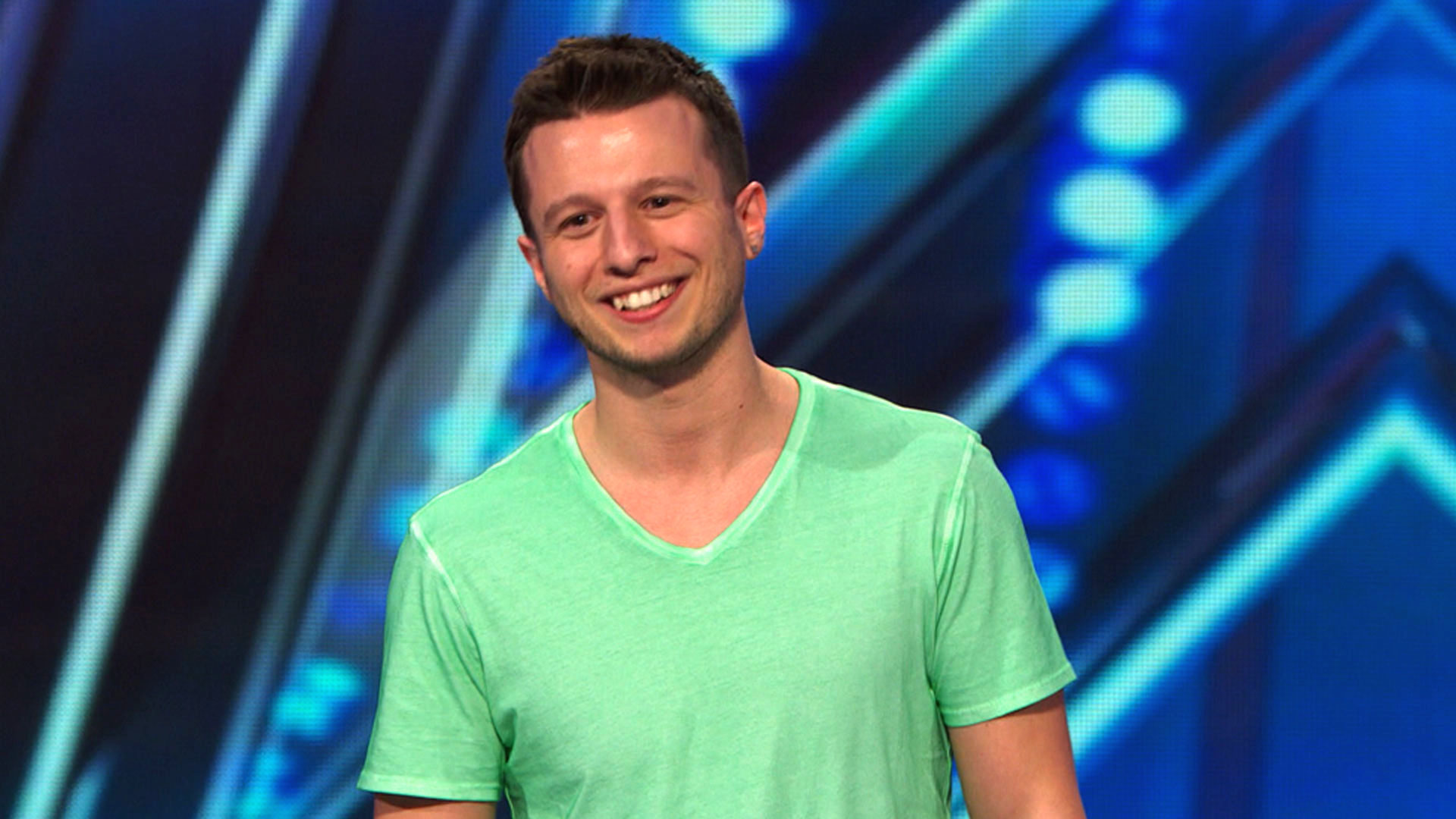 Mat Franco on the stage of America's Got Talent