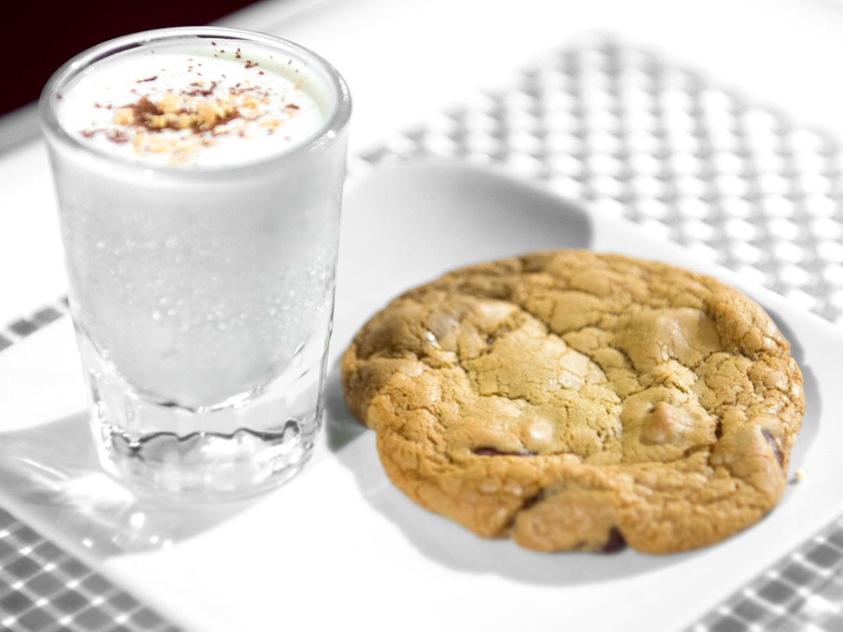 Chocolate Chip Cookies and Peanut Butter Milkshake
