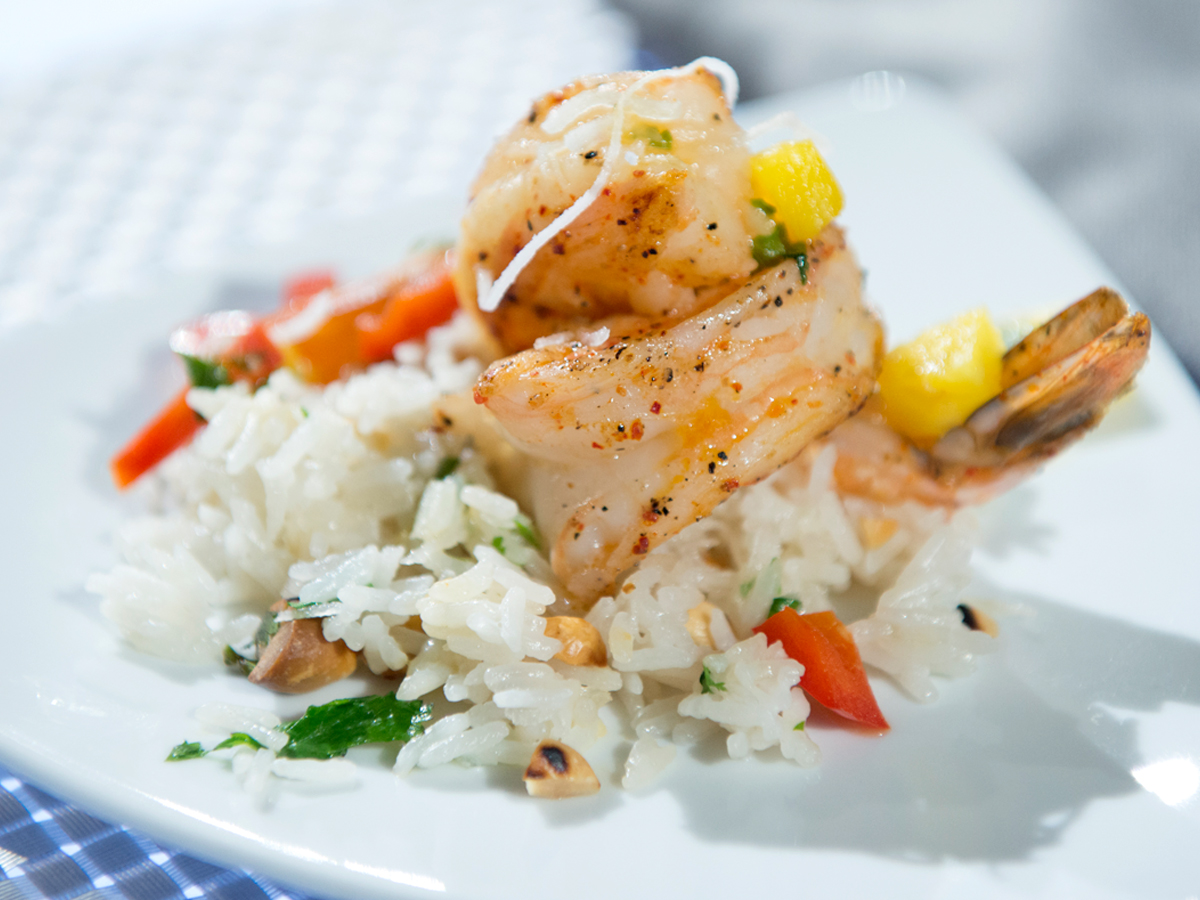 Sweet and Spicy Shrimp with Coconut Rice