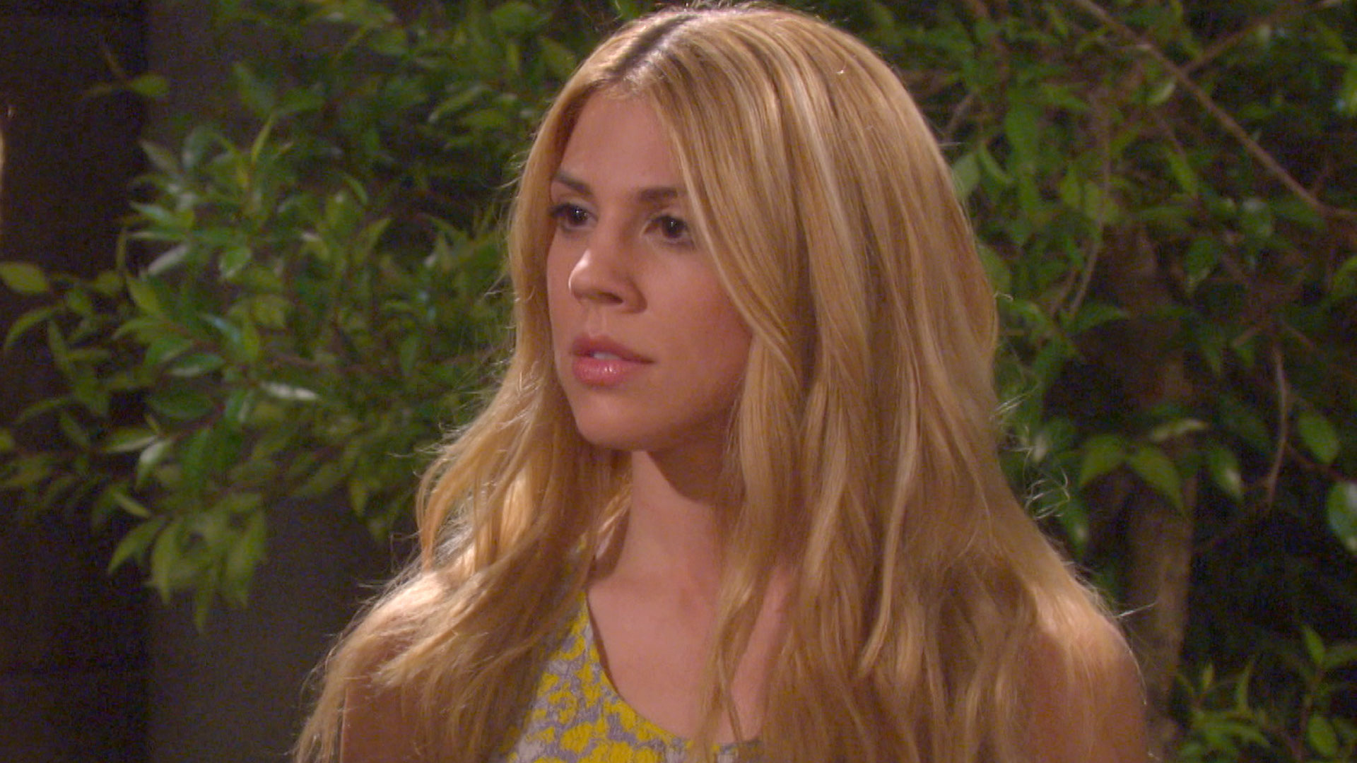 Abigail warns Sami she has the means to destroy her.