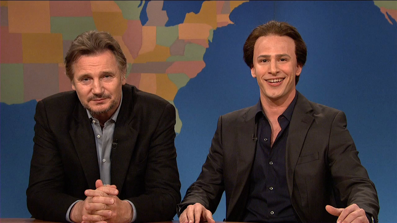 Watch weekend update get in the cage with nicolas cage and liam neeson from saturday night live for Saturday night live appalachian emergency room