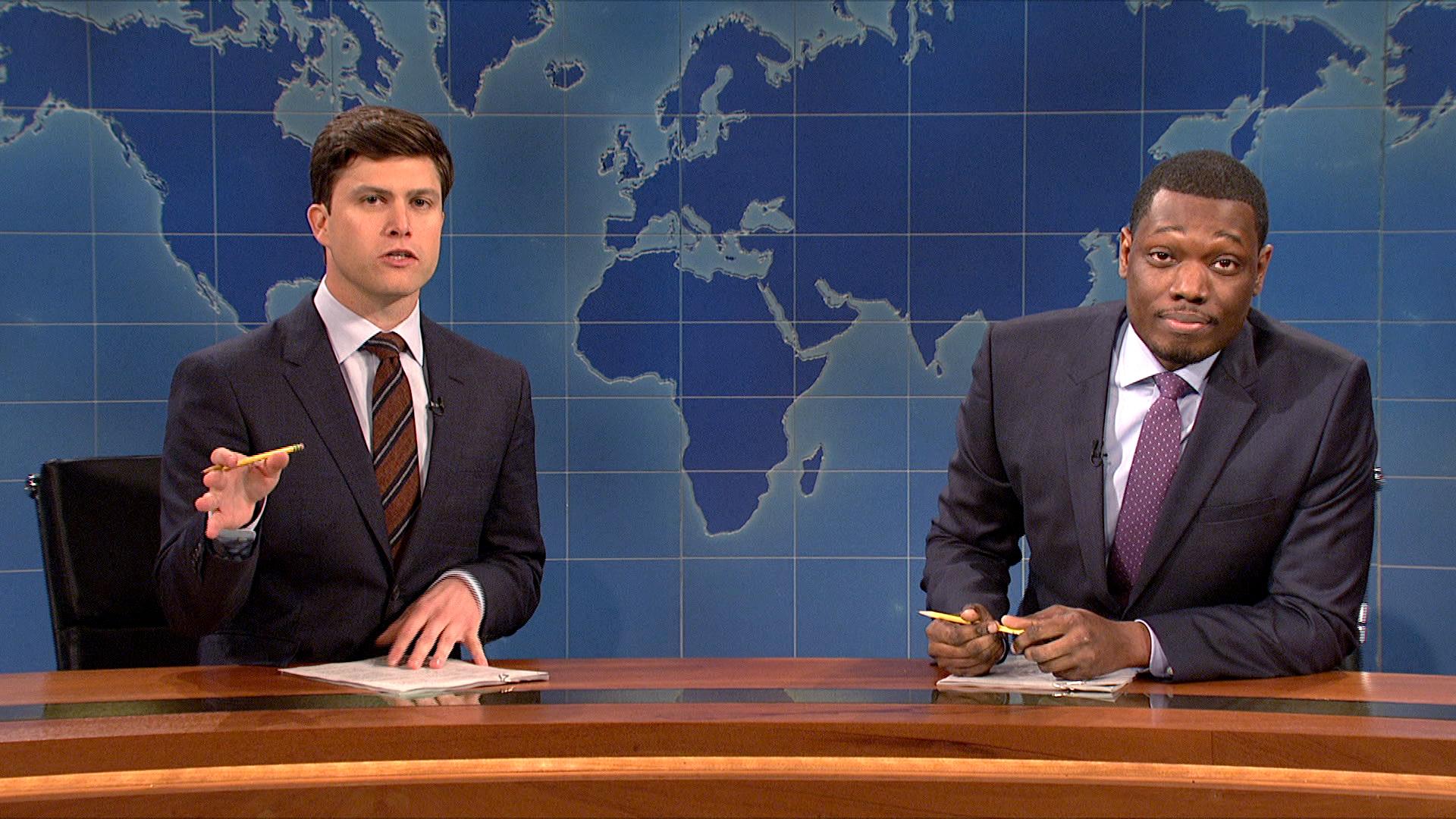 Watch Weekend Update: Colin Jost and Michael Che Talk Gun ...