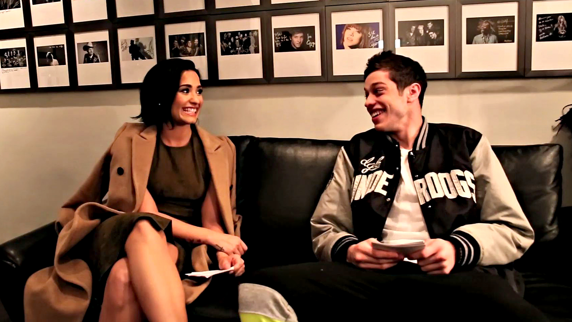 Watch Two Way Q Amp A Demi Lovato And Pete Davidson From