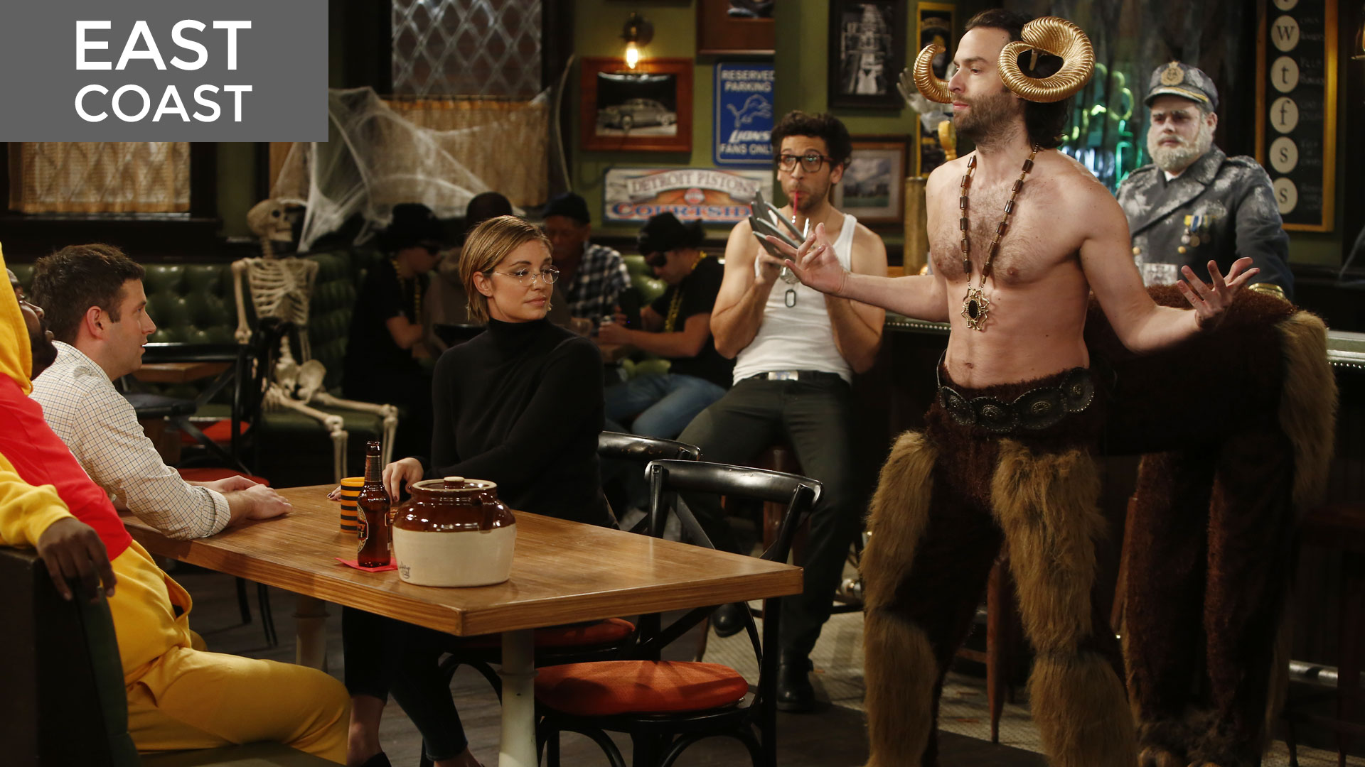 Halloween walks into a bar episodes undateable nbc for Food bar east coast