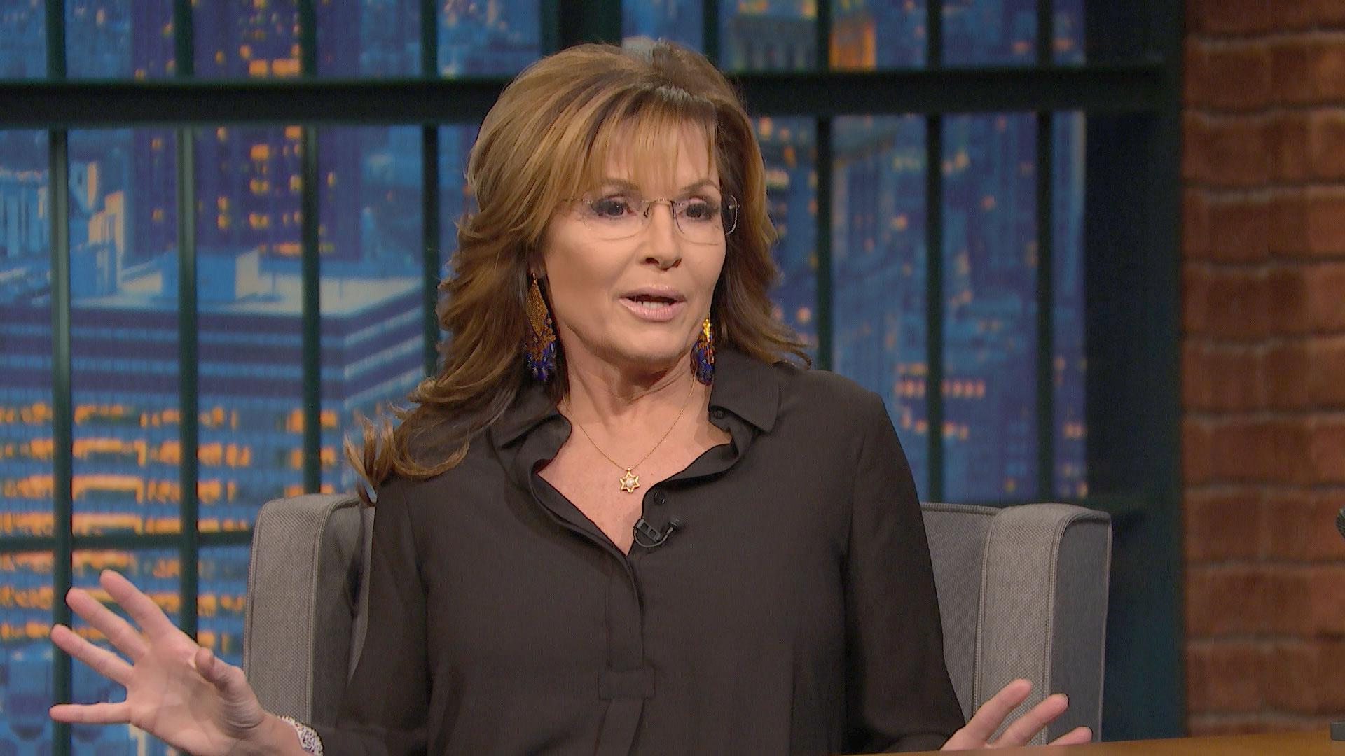 Sarah Palin Fake Naked Classy watch late night with seth meyers interview: sarah palin's