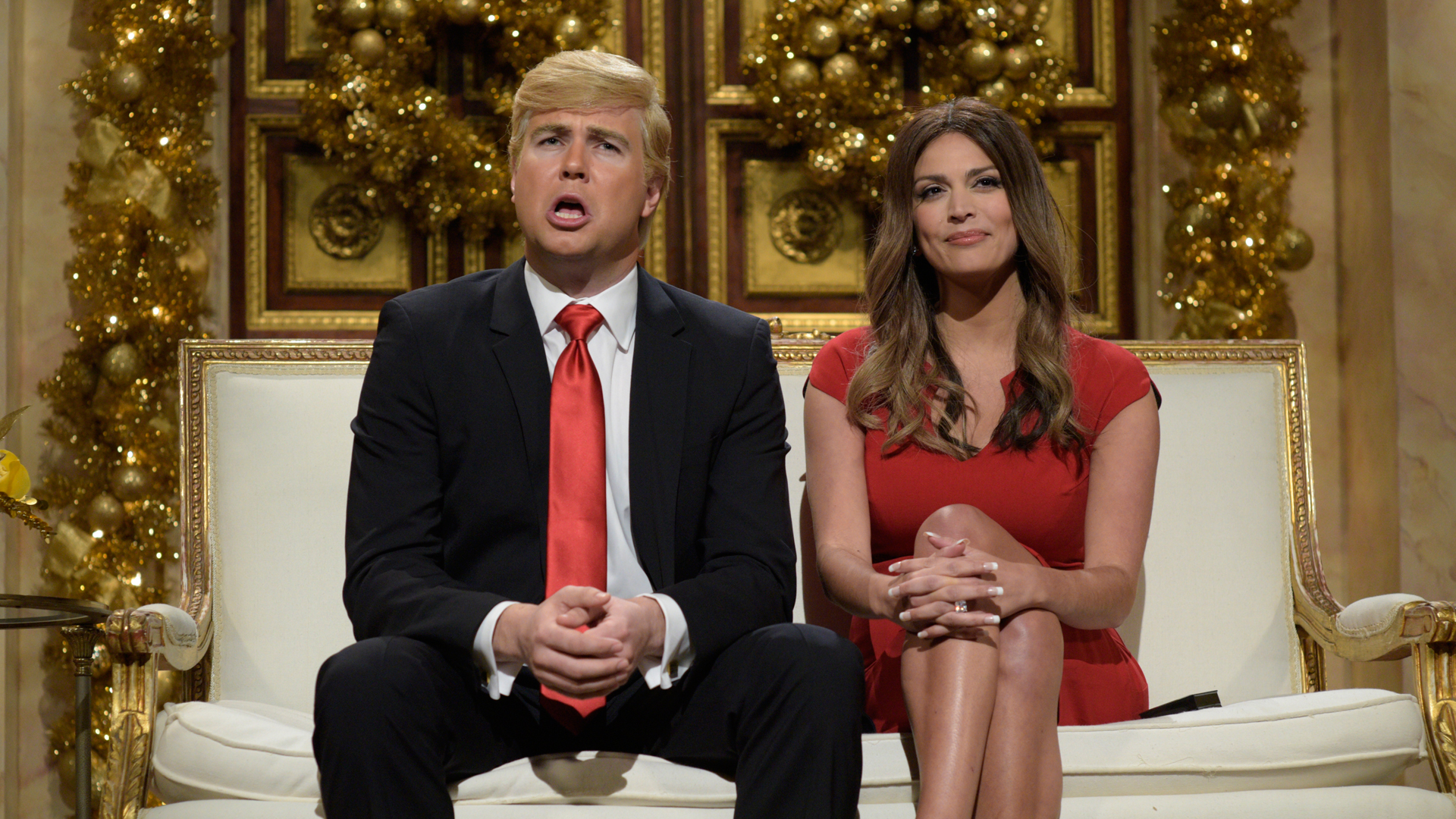 Watch Donald and Melania Trump Christmas Cold Open From Saturday Night ...