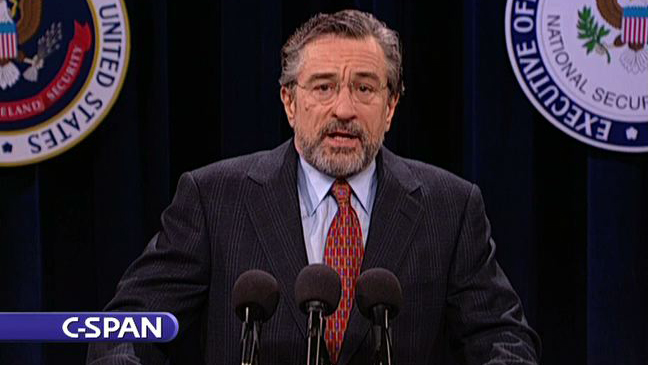 De niro snl homeland security