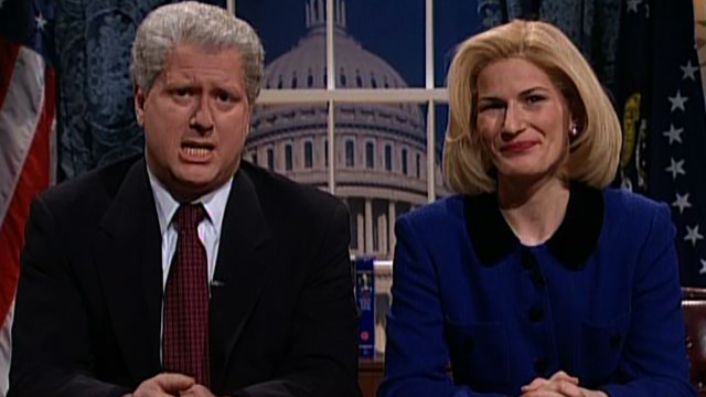 Watch Bill Clinton Lets Hillary Address The Nation From