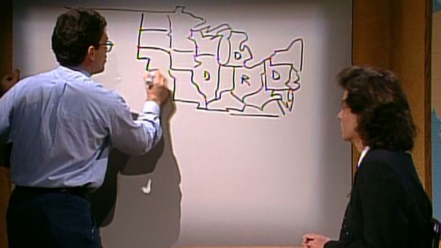 Watch Saturday Night Live Highlight Weekend Update Segment Al - Al-franken-draws-us-map
