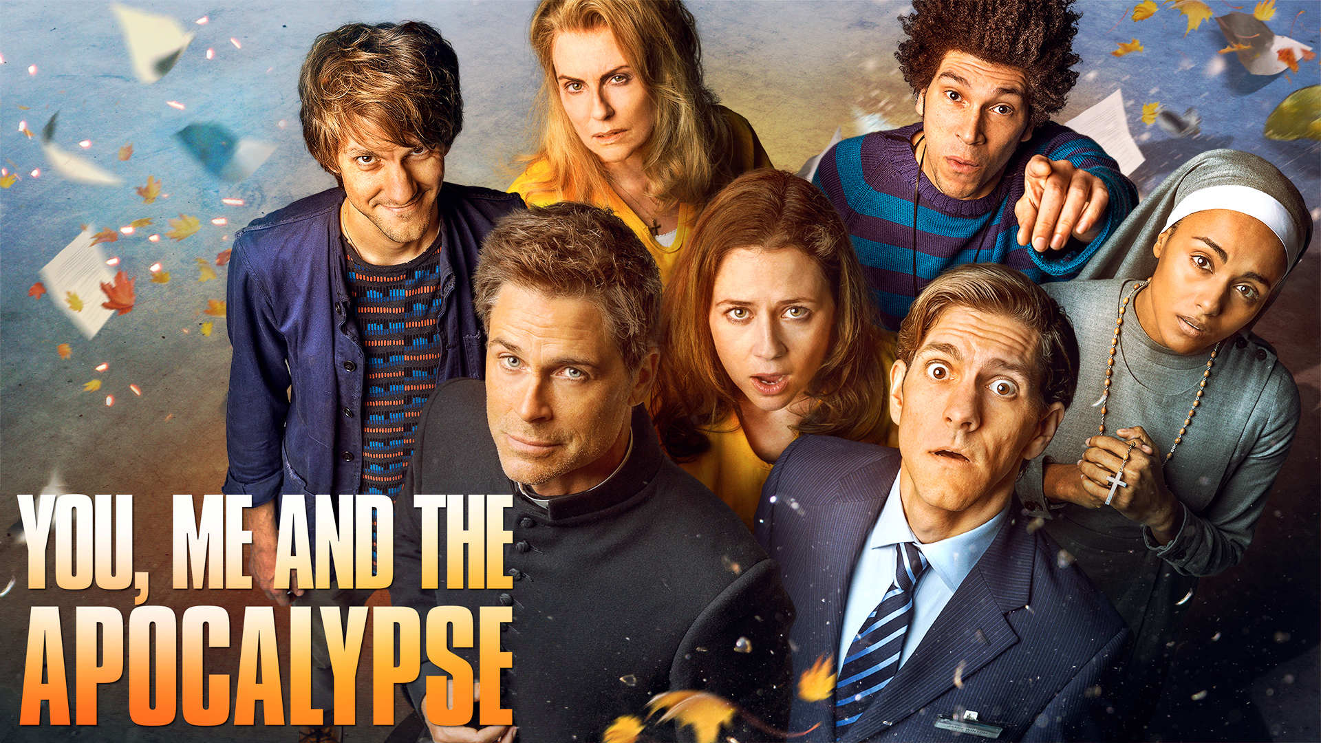The cast for upcoming series You, Me and the Apocalypse includes Rob Lowe and Jenna Fischer.... [+] (Credit: NBC)