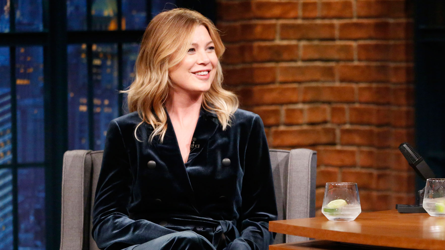 Watch Late Night With Seth Meyers Interview Ellen Pompeo Reflects