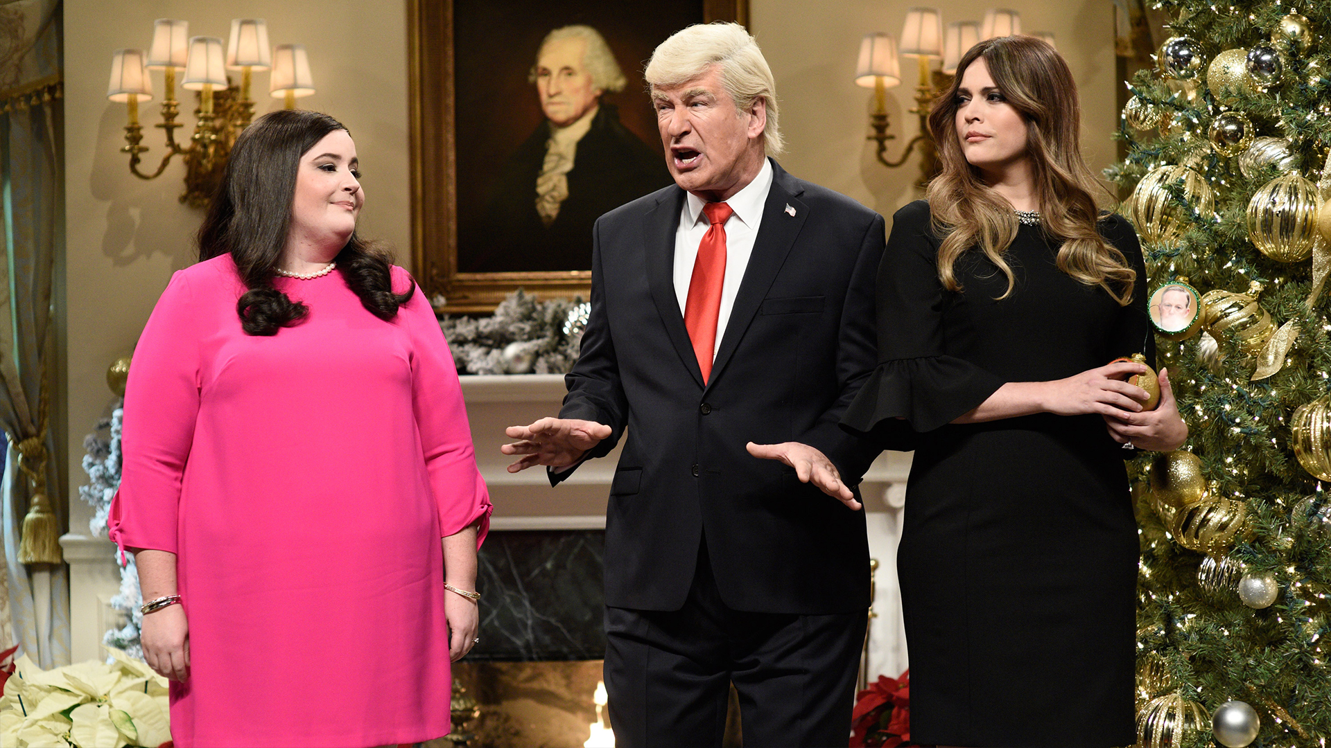 watch saturday night live highlight white house tree trimming cold open nbccom - Saturday Night Live Christmas Song