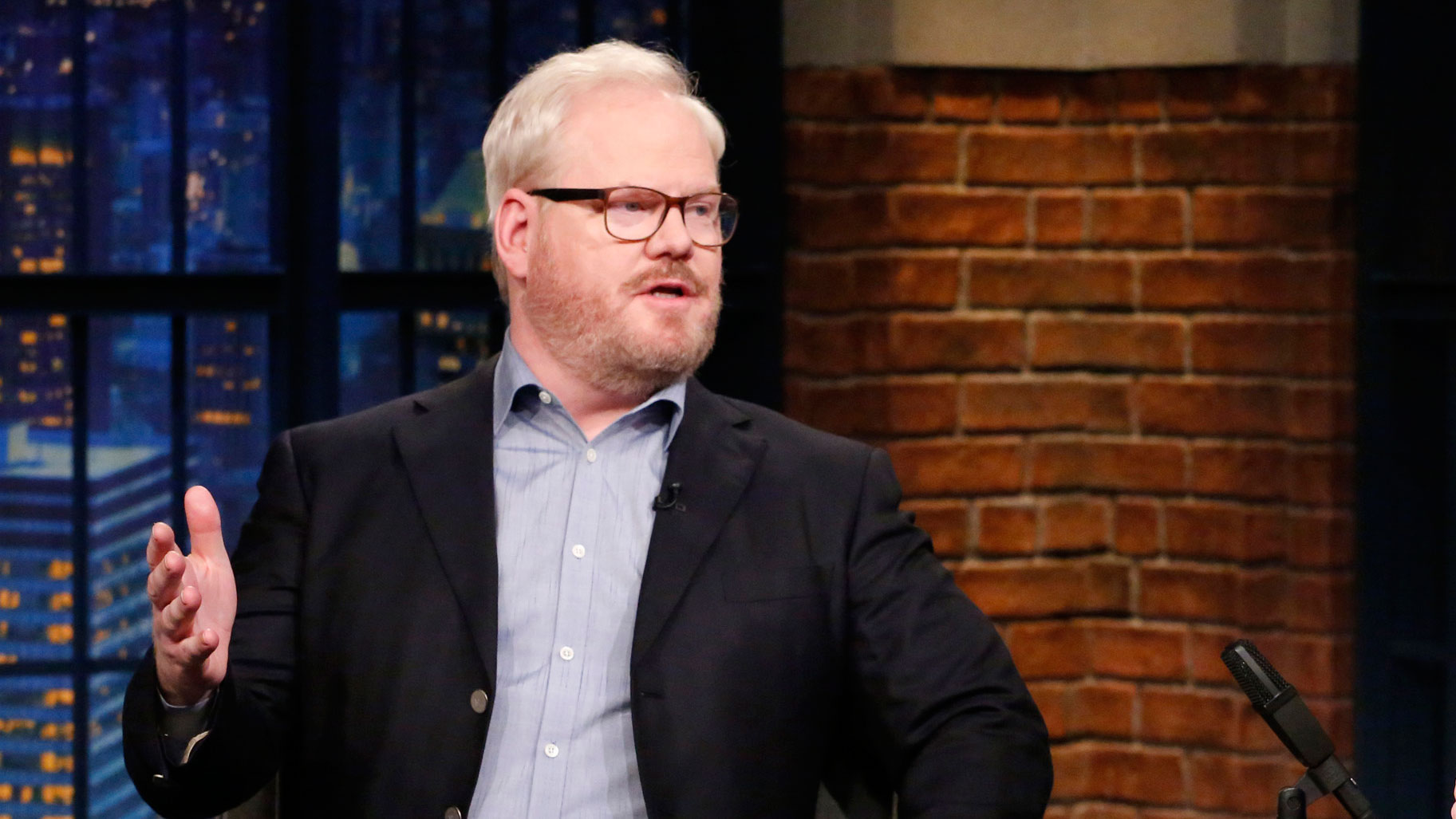 Watch Late Night with Seth Meyers Interview: Jim Gaffigan Has Mixed ...