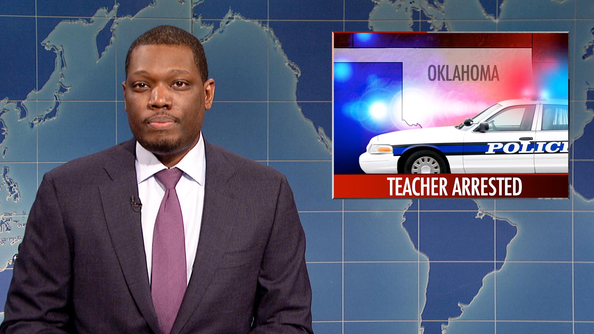 Watch Weekend Update on Oklahoma Teacher's Arrest From ...