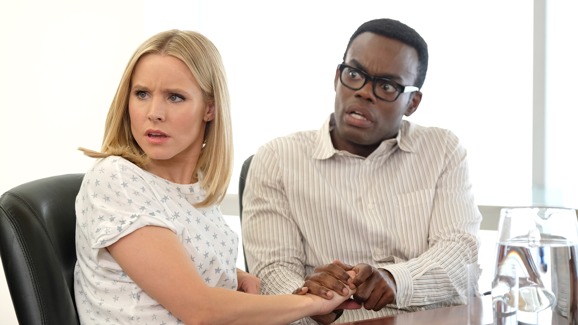 Watch The Good Place Episode Chidi Sees The Time Knife Nbc Com