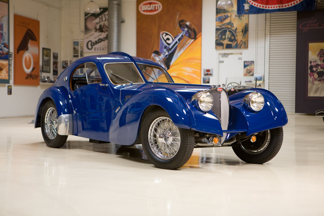 Gallery for bugatti type 57sc atlantic jay leno for Garage auto 57
