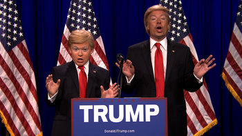 Donald Trump and Little Donald (8th Grade Impressionist)