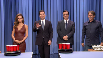 Roomba Pong with Jessica Alba and Jeff Foxworthy