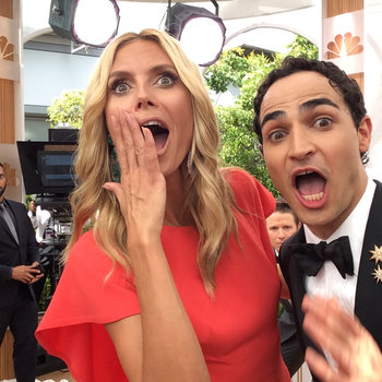 Emmy Stars Visit the Facebook Selfie Station