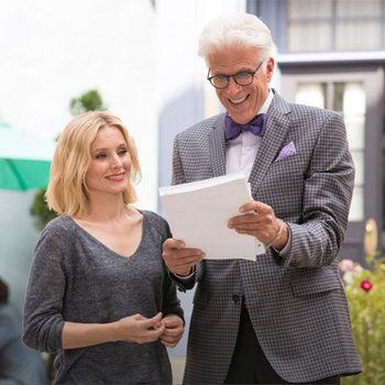 """Irresistible."" - SF Gate. Binge-watch The Good Place from the very beginning!"