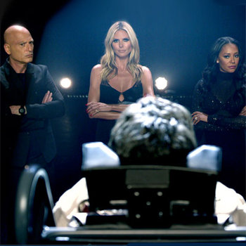 Heidi, Mel B, Howie and Nick prepare themselves for new judge Simon Cowell!