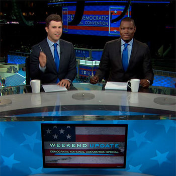 Watch Weekend Update's take live from the Democratic National Convention.