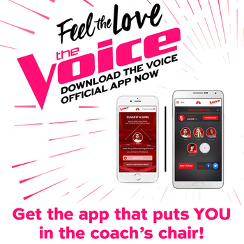 The live shows have begun! Take part with fellow fans. Download The Voice app.