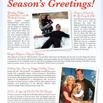 The Brinkley Holiday Newsletter