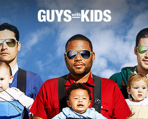 Guys With Kids Responsive Key Art Dynamic Lead Slide