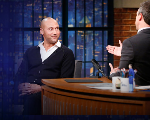 Late Night with Seth Meyers - NEW SITE - Derek Jeter Slide