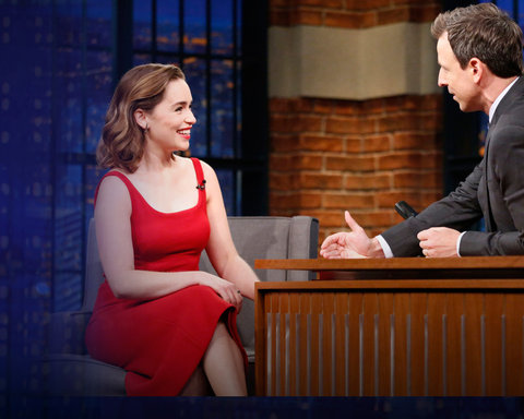 Late Night with Seth Meyers - NEW SITE - Emilia Clarke