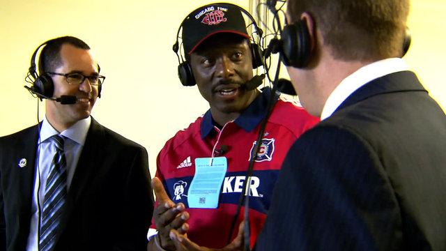 Eamonn Walker visits Chicago Fire Soccer