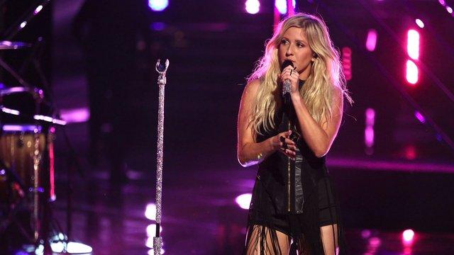 """Ellie Goulding with James Wolpert, Matthew Schuler and Will Champlin: """"Burn"""""""