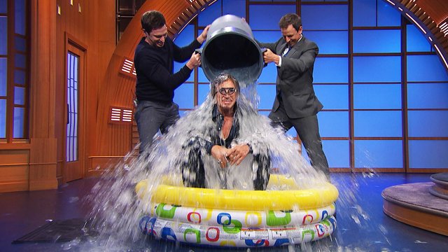 Mickey Rourke Accepts the Ice Bucket Challenge