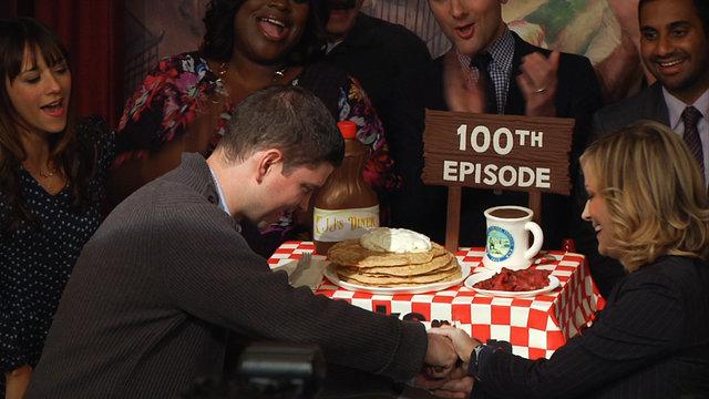 100th Episode Cake Cutting Celebration